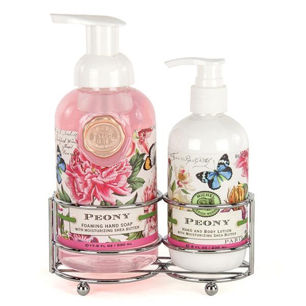 Set sapun lichid si crema de maini in suport metalic Aromabujori rozSapun lichid spumaSapunul contine aloe vera si este imbogatit cu unt de