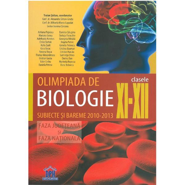 Olimpiada de biologie subiecte si bareme 2010-2013 clasele XI-XII