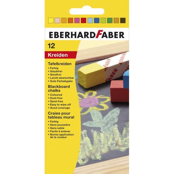Set de creta colorata format din 12 bucati adecvat pentru scrierea pe tabla
