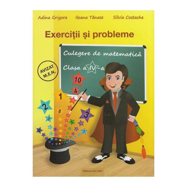 Culegerea de matematica cuprinde 1000 de exercitii si probleme repartizate pe 12 capitole si este realizata in conformitate cu programa pentru clasa a IV-a aprobata MEN prin ordin al ministrului Nr 500302122014