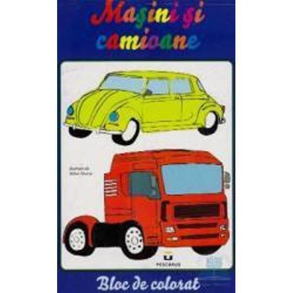 Masini si camioane -bloc de colorat