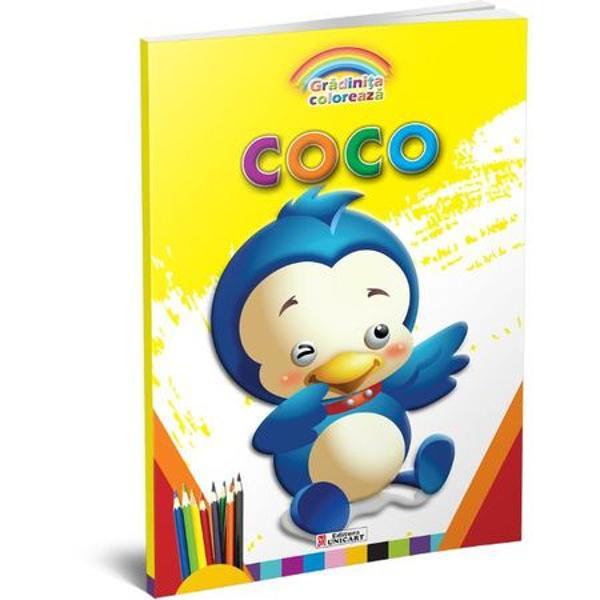Carte de colorat Coco