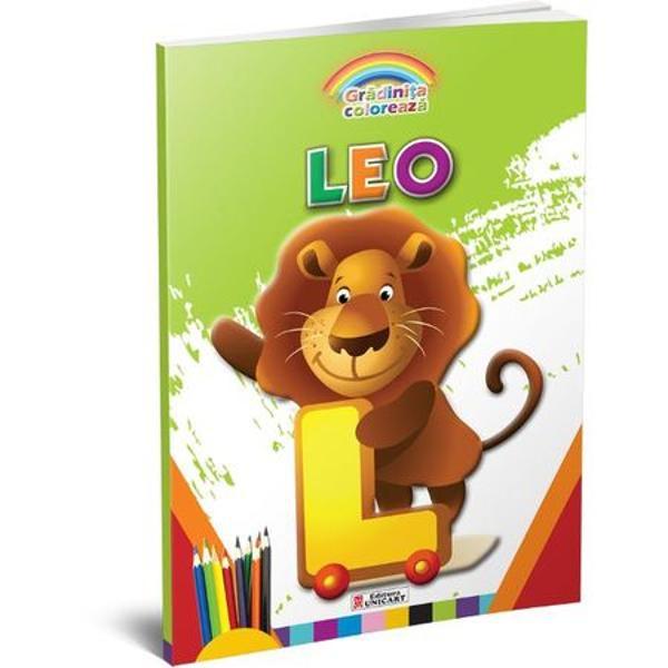 Carte de colorat Leo