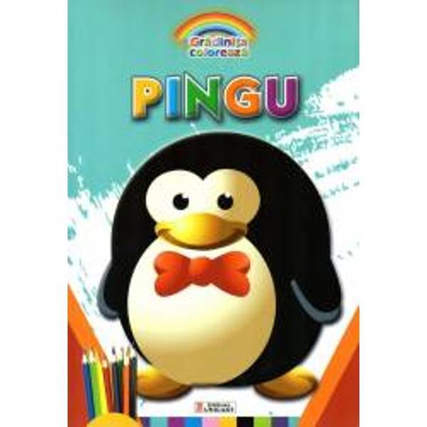 Carte de colorat Pingu