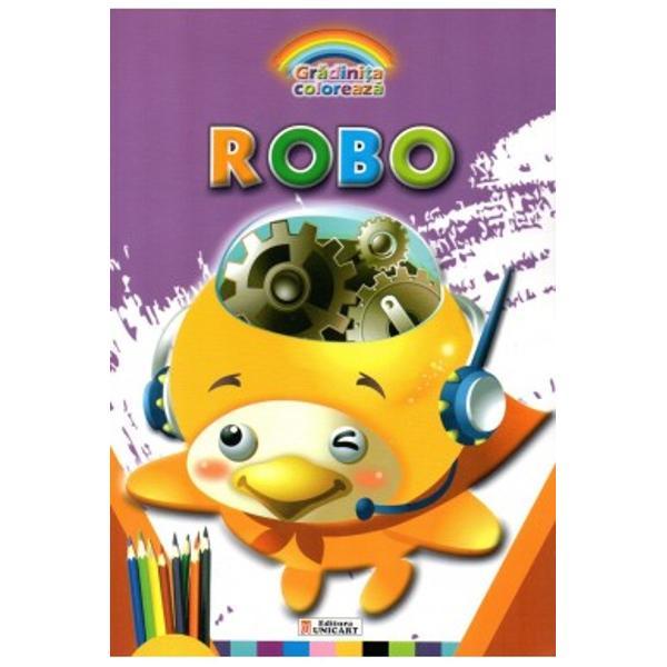 Carte de colorat Robo