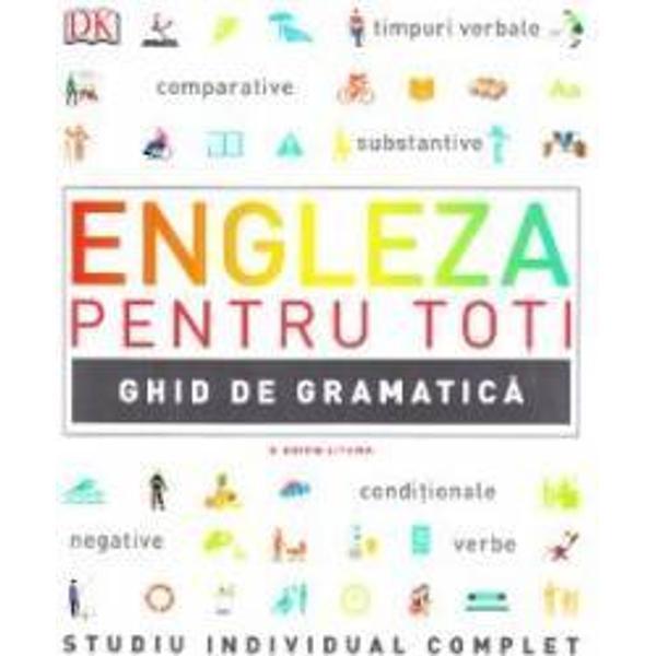 Un ghid vizual complet al gramaticii limbii engleze britanice si americane cu explicatii simple si pe intelesul tuturor ideal pentru a invata pas cu pas pe diferite niveluri de dificultateAutoare Diane Hall consultant engleza britanica Susan Barduhn consultant engleza americana