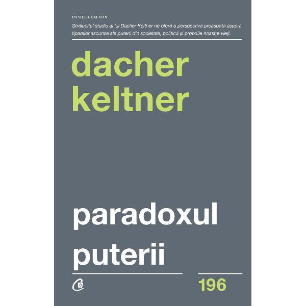 DACHER KELTNER este profesor de psihologie la Universitatea California din Berkeley unde conduce Laboratorul de Interac&539;iune Social&259; &536;i-a ob&539;inut licen&539;a &238;n psihologie &537;i sociologie &238;n 1984 &537;i titlul de doctor &238;n 1989 Renumit expert &238;n originile biologice ale emo&539;iei umane dr Keltner studiaz&259; modul &238;n care compasiunea venera&539;ia iubirea &537;i alte emo&539;ii influen&539;eaz&259; etica Cercet&259;rile sale