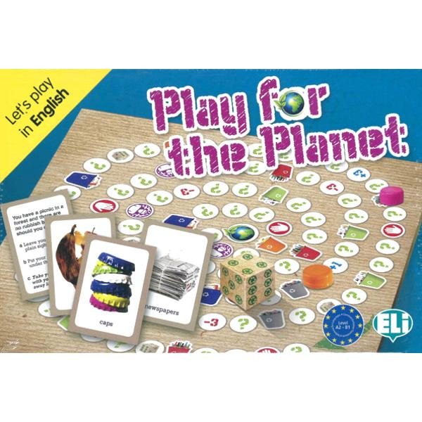 Let's play and have a clean world Choose the correct bin for the rubbishand answer the questions Play and practise vocabulary related to theenvironment recycling renewable energy organic agriculture and food The box contains• a playing board with 100 spaces;• a dice;• 60 photographic cards;• 72 game cards;• a teacher's booklet