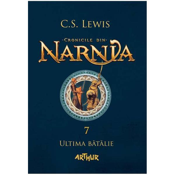 Premiat&259; cu Carnegie MedalUltima b&259;t&259;liee concluzia unei pove&537;ti despre &539;inutul Narnieiunde trebuie s&259;-&539;i iei r&259;mas-bun &537;i unde începe aventuraInorogul spune c&259; oamenii sunt adu&537;i în Narnia când &539;inutul e fr&259;mântat &537;i tulbure Iar acum Narnia se g&259;se&537;te la ananghie Un fals Aslan cutreier&259;