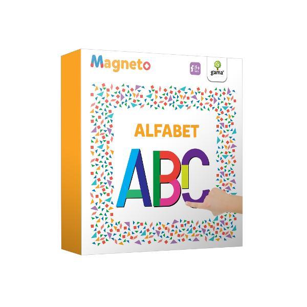 Magneto • Alfabetcon&539;ine piese magnetice cu ajutorul c&259;rora copilul poate forma literele alfabetului Cartea poate fi folosit&259; atât de copiii care abia înva&539;&259; s&259; recunoasc&259; literele cât &537;i de cei care exerseaz&259; deja formarea cuvintelor &537;i cititul Rezolvarea puzzle-urilor magnetice contribuie la exersarea gândirii logice la în&539;elegerea rela&539;iilor