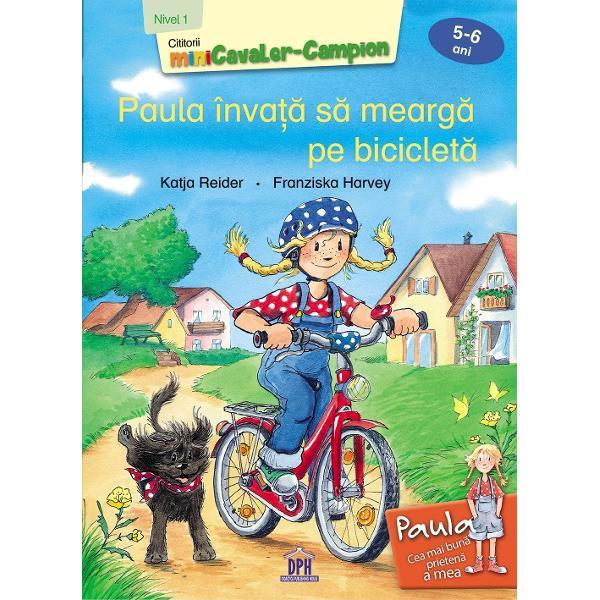 Paula a primit în dar o biciclet&259; minunat&259; &537;i abia a&537;teapt&259; s&259; se fac&259; vreme frumoas&259; ca sa o testeze Ea &537;tie deja s&259; mearg&259; pe triciclet&259; &537;i pe role dar oare cu bicicleta se va descurca R&259;bd&259;tor tat&259;l ei o ajut&259; iar Paula înva&539;&259; repede Iuhu Curând Paula este gata pentru primul tur cu bicicleta Editura DPH te a&537;teapt&259; s&259; intri în clubul