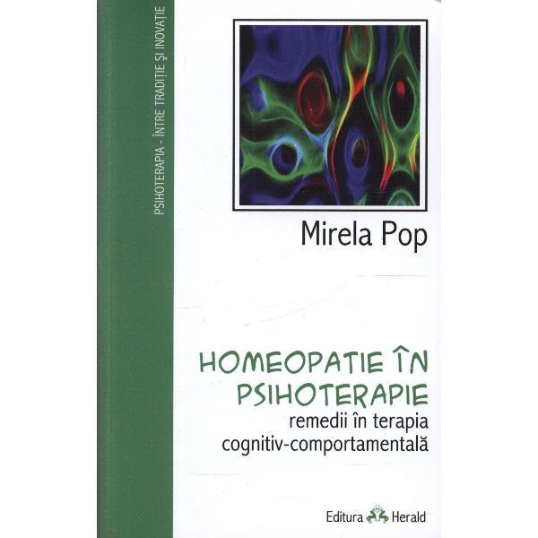 """""""Avem in fata rezultatul efortului considerabil al DrMirela Popde a elabora intr-o forma cat mai clarificatoare cu putinta bazele teoretice ale unei noi abordari «psihoterapia cognitiv-homeopatica» - nascuta prin asocierea psihoterapiei si a homeopatiei Autoarea a reusit in aceasta carte o sinteza remarcabila a ideilor si a cunostintelor amanuntite din domeniul psihoterapiei pe care le detine plecand de la cateva"""