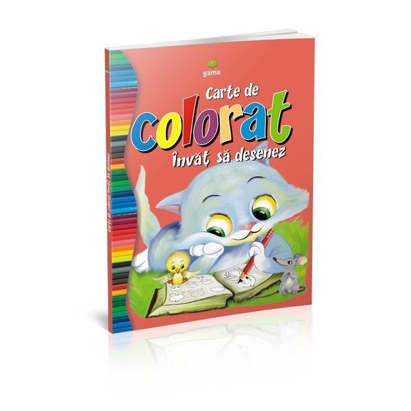 """""""Înv&259;&539; s&259; desenez""""este deopotriv&259; o carte de colorat &537;i un ghid cu lec&539;ii de desenCopilul este încurajat s&259; reproduc&259; desenele conform indica&539;iilor apoi s&259; le coloreze"""