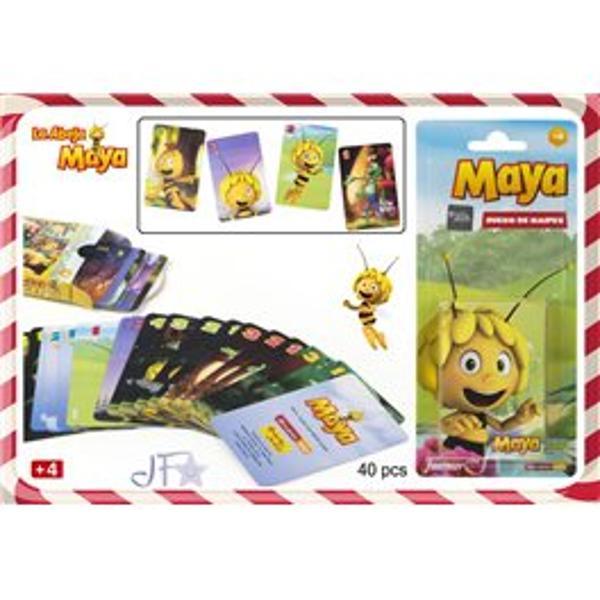 Carti de joc pentru copii Albinuta MayaCarti de joc pentru copii cu Albinuta Maya set-ul contine 40 de carti fiecare avand imprimat cate unpersonaj din filmDimensiuni pachet 65 x 10 x 15 cmVarsta recomandata 3 ani