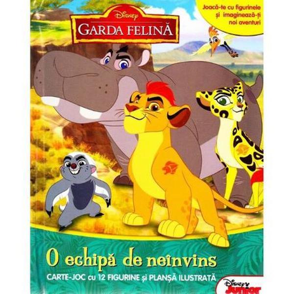 Disney Garda felina O echipa de neinvins Carte joc cu 12 figurine si plansa ilustrataJoaca-te cu figurinele si imagineaza-ti noi aventuriO poveste captivanta si un joc antrenant intr-o singura carte de activitatiIlustratiile incantatoare cele 12 figurine si plansa ilustrata insufletesc personajele indragite din Garda felina si stimuleaza imaginatia copilului tau
