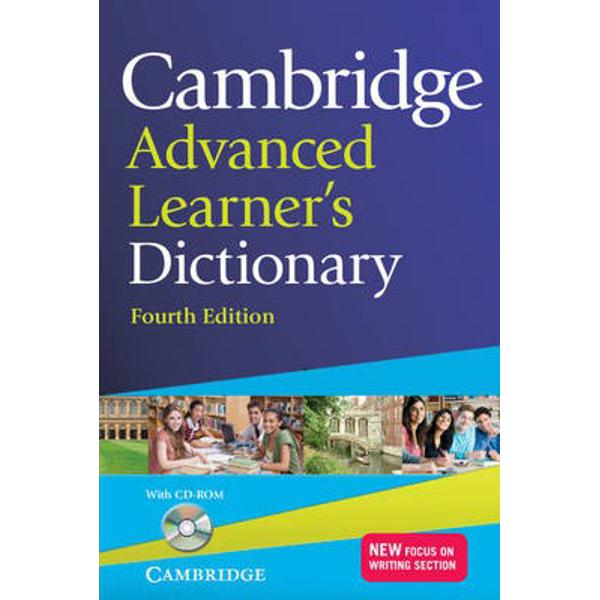 A fully updated edition of the best-selling Cambridge Advanced Learners Dictionary This paperback edition is ideal for advanced C1-C2 learners of English and contains up-to-date vocabulary including words from the areas of technology media language society and lifestyle plus important words for academic study With over 140000 words phrases meanings and examples hundreds of pictures and illustrations clear definitions and a new Focus on Writing section the dictionary is