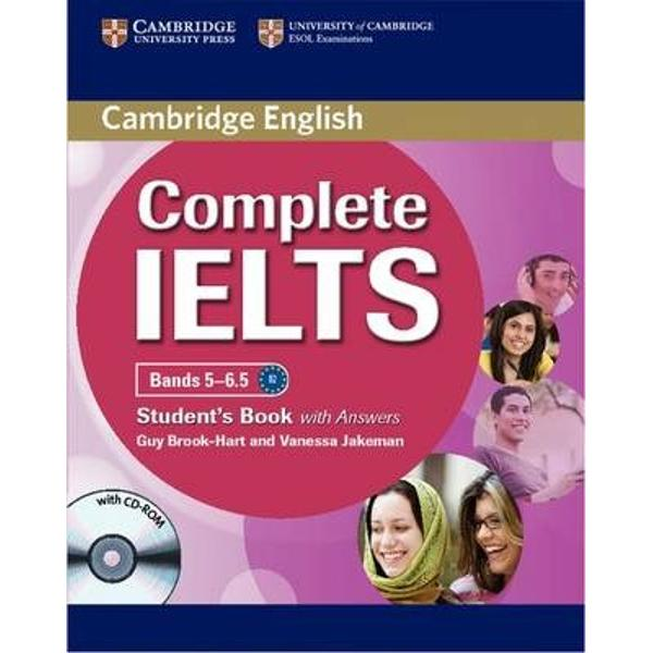 Complete IELTS combines the very best in contemporary classroom practice with stimulating topics aimed at young adults wanting to study at university The Students Pack is ideal for self-study It consists of the Students Book with Answers with CD-ROM and the Audio CDs which contain all the material for the listening activitiesThe Students Book with Answers contains 8 topic-based units with stimulating activities to ensure that students gain skills practice for each of the four
