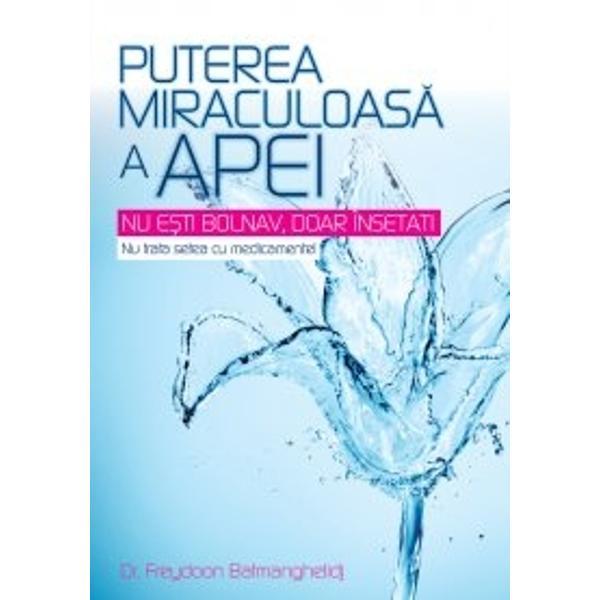 Aceast&259; carte bazat&259; pe 20 de ani de cercetare clinic&259; &537;i &537;tiin&539;ific&259; în ce prive&537;te rolul apei în organism prezint&259; descoperirea extraordinar&259; c&259; deshidratarea cronic&259; neinten&539;ionat&259; produce stres dureri cronice &537;i multe boli degenerative înso&539;ite de durereGura uscat&259; nu este singurul semn de deshidratare; este gre&537;it s&259;