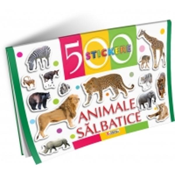 500 Stickere - Animale salbatice