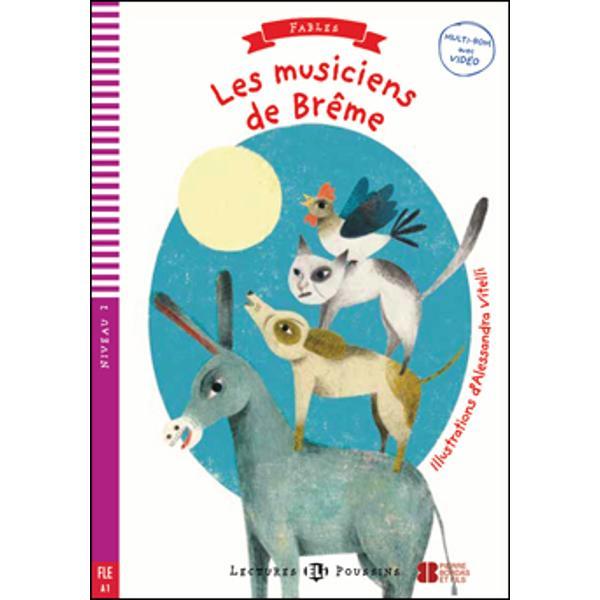 Viens avec moi à Brême et tu deviendras musicien Je jouerai de la guitare et toi tu pourrais jouer du tambour »Voilà l'histoire d'un âne qui décide d'aller à Brême pour jouer dans un groupe musicalSur la route il rencontre d'autres animaux Qui rencontre-t-il  Sur la route ils trouvent une maison Maisqui habite dans cette maison  Lis