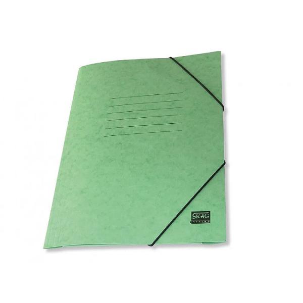 Mapa din carton cretat cu elastic Skag in format A4 Capacitate mare Ideala pentru stocarea si transportul documentelor Inchidere cu banda elastica pentru transportul in siguranta al documentelor