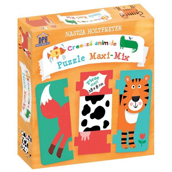 Are câinele aripioare Partea din spate a tigrului se potrive&537;te cu corpul unui crocodil Iar morsa cea impun&259;toare poate fi o vac&259; Corpul fiec&259;rui animal este format din trei piese de puzzle Acestea pot fi schimbate între ele dup&259; dorin&539;&259; Pasiona&539;ii de puzzle pot reconstrui animale cunoscute sau pot inventa animale fantastice 136 de combina&539;ii posibile V&259; mai pute&539;i juca &537;i cu Forme