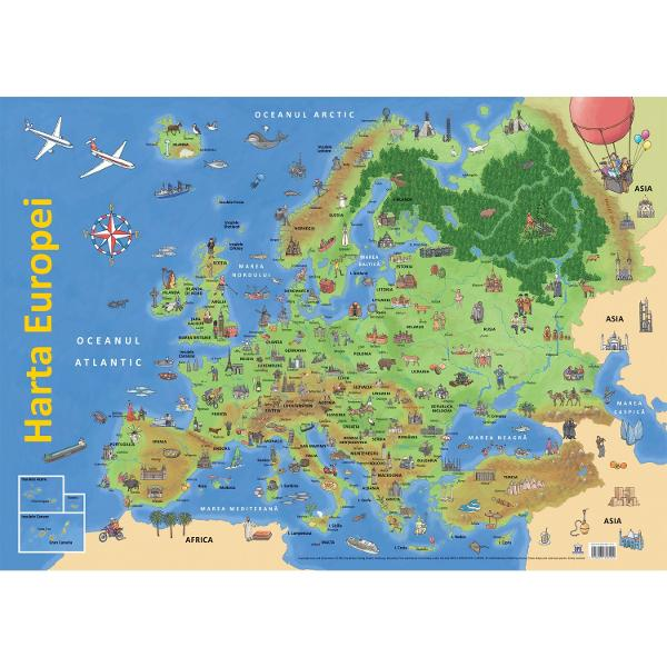 Harta Europei Plansa Clb Ro