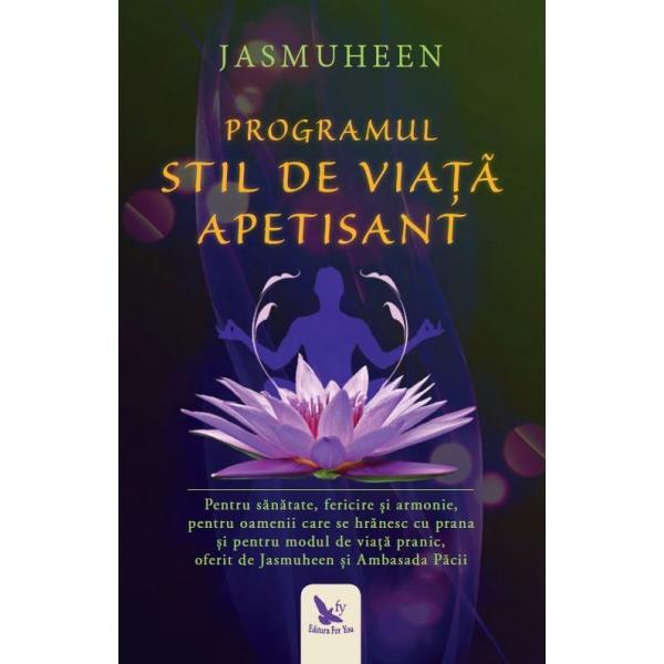 Programul Stil de Via&539;&259; Apetisant este prezentat de Jasmuheen pentru Ambasada P&259;cii ca modalitate puternic&259; &537;i pragmatic&259; de a te bucura de mai multe ritmuri de s&259;n&259;tate fericire &537;i armonie cu sine &537;i cu lumeaBazat pe principiile &537;tiin&539;ei biocâmpurilor acest stil de via&539;&259; holistic m&259;re&537;te claritatea