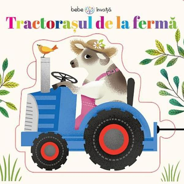 Tractorasul de la ferma de la ferma Carte cu puzzleUrca in tractoras alaturi de animalele de la ferma si pe drum insereaza piesele de puzzleTractorasul de la ferma de la ferma