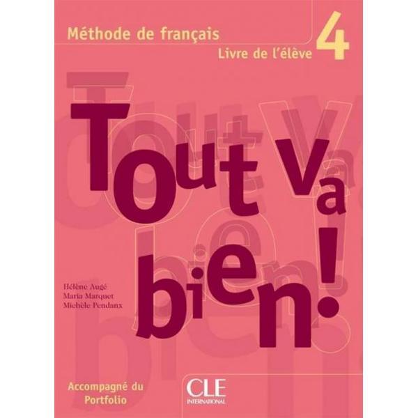 Tout va bien  4 est une méthode de français destinée aux grands adolescents et adultes ayant atteint un niveau intermédiaire équivalent au niveau B1 et visant le niveau B2 du Cadre européen commun de référence pour les langues CECRLes objectifs de Tout va bien  4 respectent scrupuleusement les recommandations du CECR comme en témoigne le Portfolio qui accompagne le livre de