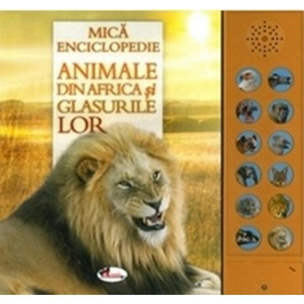 L&259;sati-v&259; impresionati de peisajele spectaculoase ale Africii si de sunetele caracteristice ale s&259;lb&259;ticiunilor continentului negru r&259;getul leilor râsul hienelor trompetele elefantilor  si multe altele Aceast&259; mic&259; enciclopedie vi le ofer&259; într-un mod inedit cu speranta de a deveni un mijloc care s&259; v&259; ajute s&259; întelegeti si s&259; apreciati minunile lumii vii