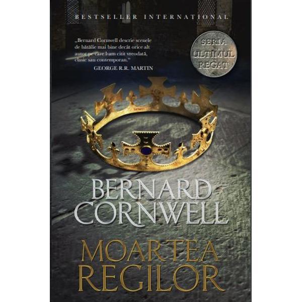 MOARTEA REGILOR este al &351;aselea roman din seria de succes Ultimul regat scris&259; de Bernard Cornwell o cronic&259; a istoriei Angliei de la &238;nceputurile sale &8222;la fel de captivant&259; ca Urzeala tronurilor dar inspirat&259; din evenimente reale&8220; The Observer serie care a stat la baza unui excep&355;ional serial de televiziune realizat de BBCREGELE ALFRED este pe moarte Rivalii la succesiune sunt pe punctul s&259; distrug&259; regatul &354;ara pe care