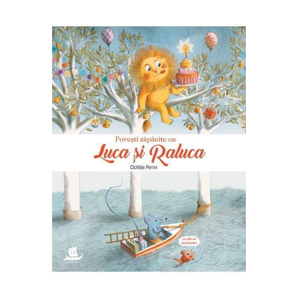 Luca &537;i Raluca doi prieteni buni tr&259;iesc nenum&259;rate aventuri iar pove&537;tile lor vesele &537;i z&259;p&259;cite se întretaie &537;i se îmbog&259;&539;esc cu fiecare nou&259; pagin&259; plin&259; de culori &537;i magieLeu&537;orul Luca st&259; coco&539;at pe o creang&259; iar &537;oricica Raluca se plimb&259; într-o barc&259;Luca se viseaz&259; acrobat în timp ce Raluca alearg&259; printre spiridu&537;ibr