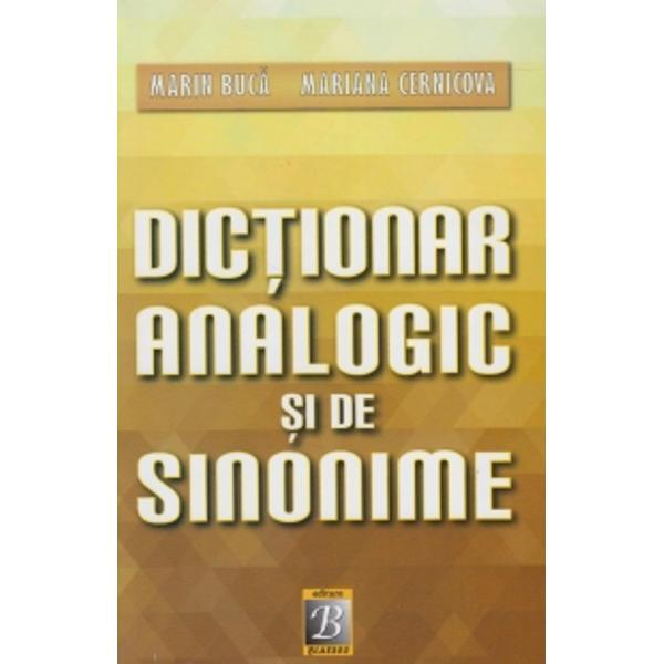 Dictionarul cuprinde aproape 1150 de grupuri analogice si de sinonime
