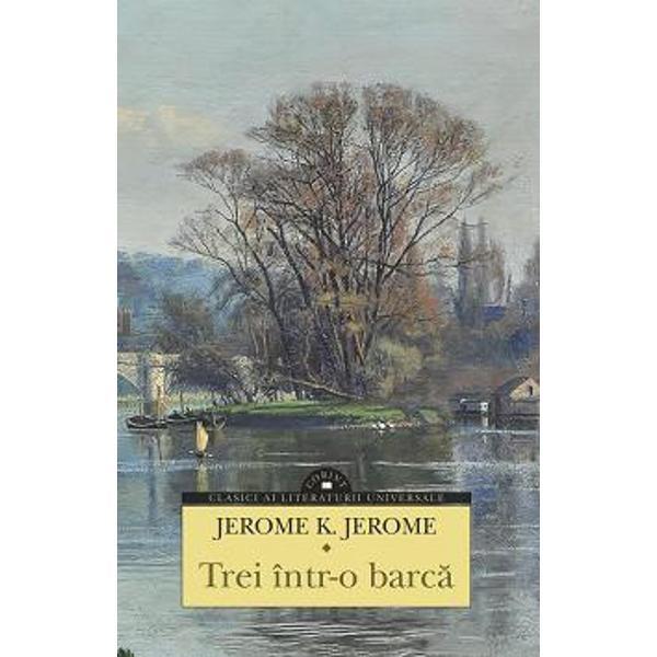 În acest jurnal de cD&3;lD&3;torie pe apele Tamisei JeromeK Jerome infirmD&3; toate prejudecD&3;Eile referitoare la ironia englezeascD&3; prea puEin spectaculoasD&3; E&31;i la epoca victorianD&3; conformistD&3; E&31;i sobrD&3; Cartea îE&31;i datoreazD&3; succesul E&31;i longevitatea umorului spumos cu care sunt evocate peripeEiile a trei londonezi pentru care o cD&3;lD&3;torie de plD&3;cere pe fluviu capD&3;tD&3; proporEiile unei expediEii