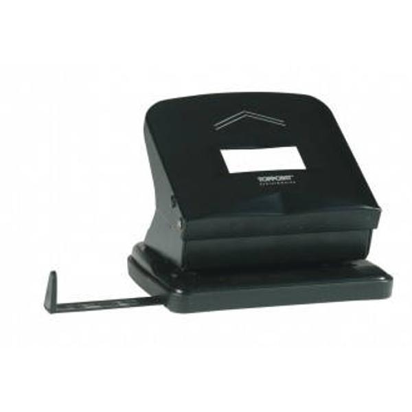 Perforator metalic TOPPOINT  pentru maxim 27 coli Disponibil in culorile alb si negru Ambalare cutie din plastic transparent Produs de Toppoint-Germania