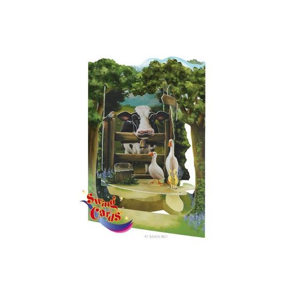 Zona rurala - Felicitare 3D Swing CardsFelicitarile 3D Swing Cards sunt cele mai detaliate bine concepute si interesante felicitari pe care le veti vedea vreodata O gama de felicitari tip pop-up multi-premiata sunt felicitari 3D interactive vin gata asamblate se deschid pentru a forma intr-un mod incredibil&160;forme&160;3D au&160; spatiu pentru mesajulDimensiunea 15 x 20 cm