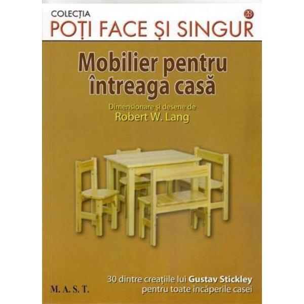 In aceasta lucrare veti gasi schite noi pentru piese de mobilier in stil craftsman 30 dintre creatiile lui Gustav Stickley pentru toate incaperile casei sufragerie dormitor biblioteca si camera de lucru si relaxare Tehnici de constructieTapitarea