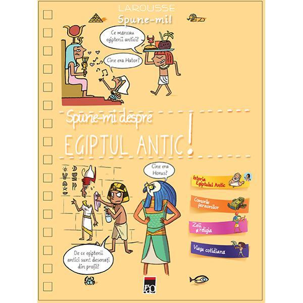 """O encilopedie frumos ilustrat&259; cuprinzând r&259;spunsurile la peste 200 decuriozit&259;&539;i pe care le au copiii structurate pe patru teme istoriaEgiptului Antic comorile faraonilor zeii &537;i religia via&539;a cotidian&259;De ce egiptenii adorau Nilul ce înseamn&259; cuvântul """"obelisc de cemumiile au m&259;&537;ti oare to&539;i egiptenii &537;tiau s&259; citeasc&259; cine a spartnasul Sfinxului cine era"""