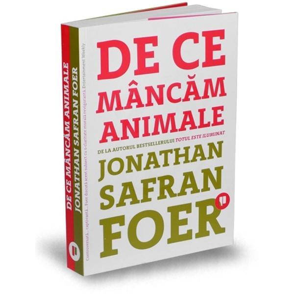 Ca mul&539;i al&355;i tineri americani Jonathan Safran Foer &537;i-a petrecut mare parte din adolescen&539;&259; &537;i din studen&539;ie pendul&226;nd &238;ntre un carnivor entuziast &537;i un vegetarian ocazional Dup&259; ce s-a c&259;s&259;torit &537;i a devenit tat&259; dimensiunile morale ale actului de a m&226;nca au devenit extrem de importante pentru el Confruntat cu situa&539;ia de a nu fi &238;n stare s&259;-i explice fiului s&259;u de ce m&226;nc&259;m