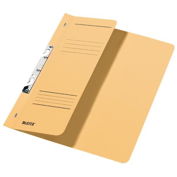 Dosar de carton pentru incopciat 12 Leitz kraftDosar din carton color cu sina pentru stocarea documentelor perforate Copcile speciale permit arhivarea sa in biblioraft sau caiet mecanic cu 2 inele si extragerea acestuia fara a fi necesara deschiderea mecanismuluiCoperta frontala partiala 12 pentru o mai buna