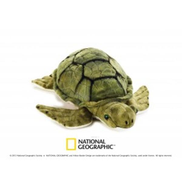 Jucarie din plus National Geographic Testoasa marina 32 cmLumea animalelor marine este fascinanta prin vietuitoarele care o populeazaCompleteaza colectia ta de animale marine din plus cu aceastatestoasa marinaDupa ce au reusit sa supravietuiasca pe
