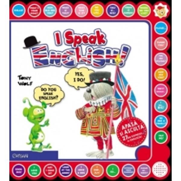 Citesti aceasta carte si inveti o multime de expresii in Engleza Citesti cartea Apesi butoanele Asculti pronuntia si incerci sa vorbesti si tu in Engleza Distractiv si educativeContine 27 expresii audio in limba engleza cu ilustratii foarte frumoase de Tony Wolf