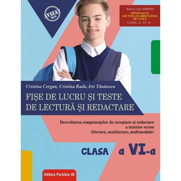 Prezentul auxiliar didactic vizeaz&259; &238;n principal dezvoltarea abilit&259;&355;ii de lectur&259; a elevilor &238;n str&226;ns&259; corela&355;ie cu dou&259; dintre competen&355;ele generale prezente &238;n noua program&259; de limba &351;i literatura rom&226;n&259; pentru clasele a V-a &8211; a VIII-a &351;i anume Receptarea textului scris de diverse tipuri competen&355;a general&259; nr 2 respectiv Redactarea textului scris de diverse