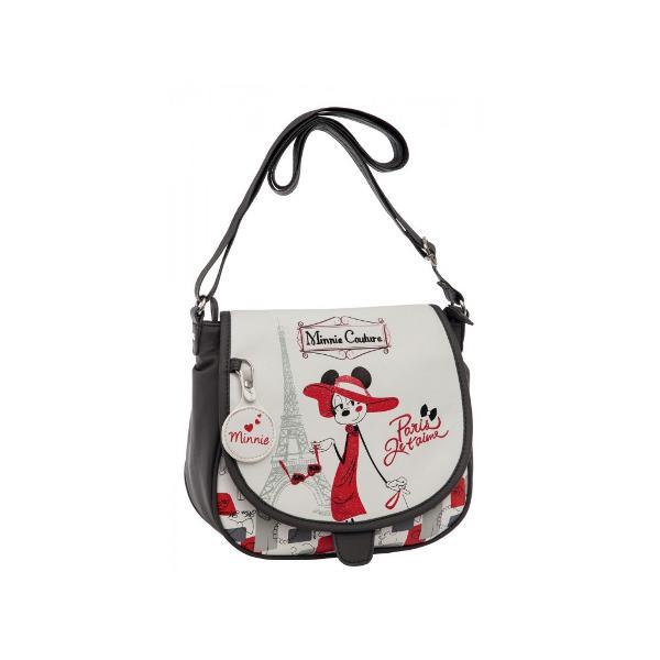 Geanta de umar Disney Minnie Couture cu 1 compartiment imprimeu cu personajul Minnie Couture confectionata din piele ecologica dimensiune 23x205x85 cm