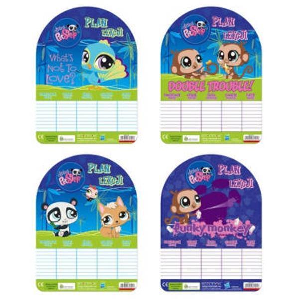 Orar scolar Littlest Pets ShopUn orar Littlest Pets Shop care sa te inveseleasca si care te ajuta sa te organizezi mai bine