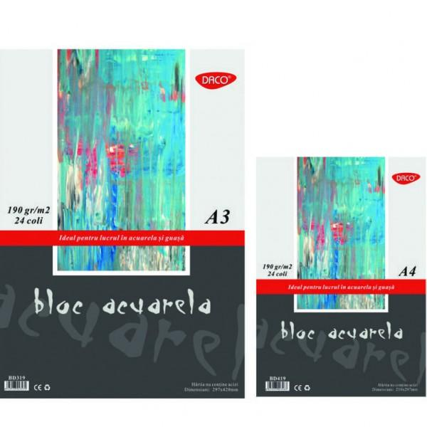 Bloc pentru acuarela A3• 24 file hârtie special&259;• 190 grmp