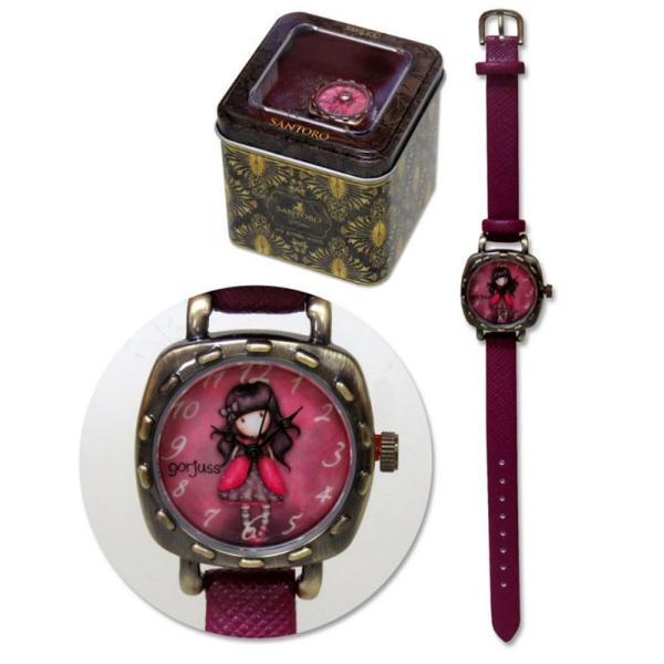 Santoro Gorjuss Ceas mana in cutie metal - LadybirdsCu ceasul de mana Gorjuss cu designul Ladybird nu vei ajunge niciodata tarziu fiid atat de frumos&160; incat nu poti sa nu te uiti la el Este irezistibil