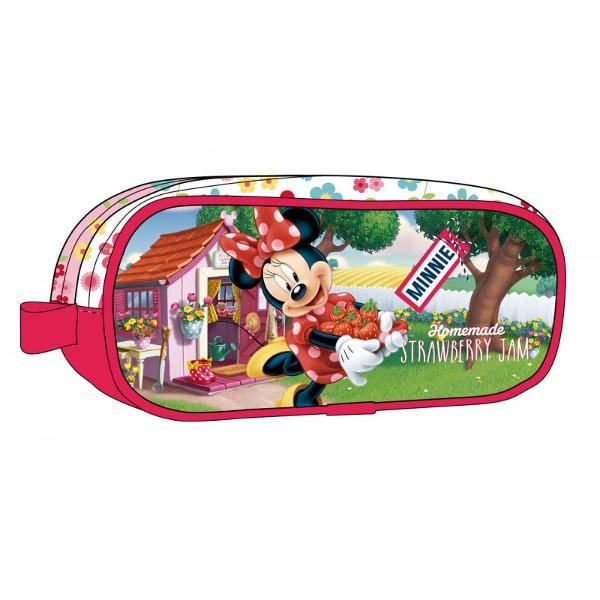 Penar 2 compartimente Minnie Strawberry - dimensiune 23x9x7 cm culoare rosu cu imprimeu personaj Minnie Mouse 2 compartimente material microfibra  PVCSpecificatiip classchtitle stylewidth 140px; margin-bottom