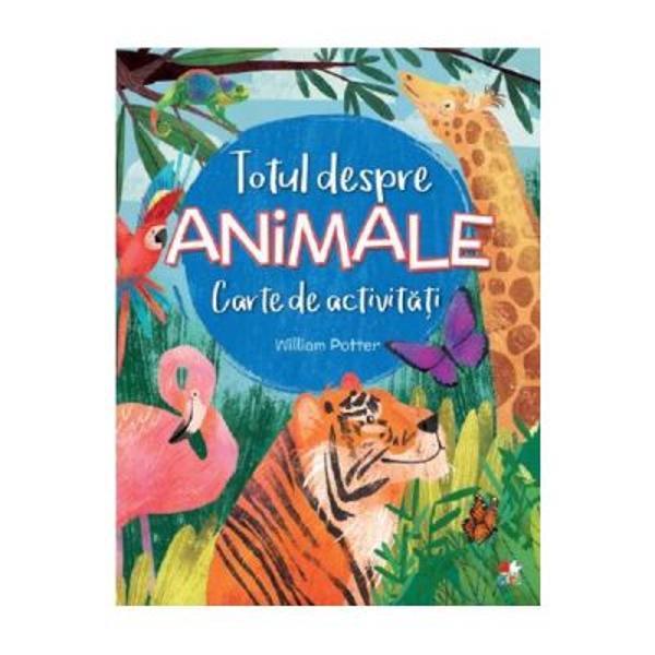 Daca iti plac mult animalele aceasta carte plina de activitati este